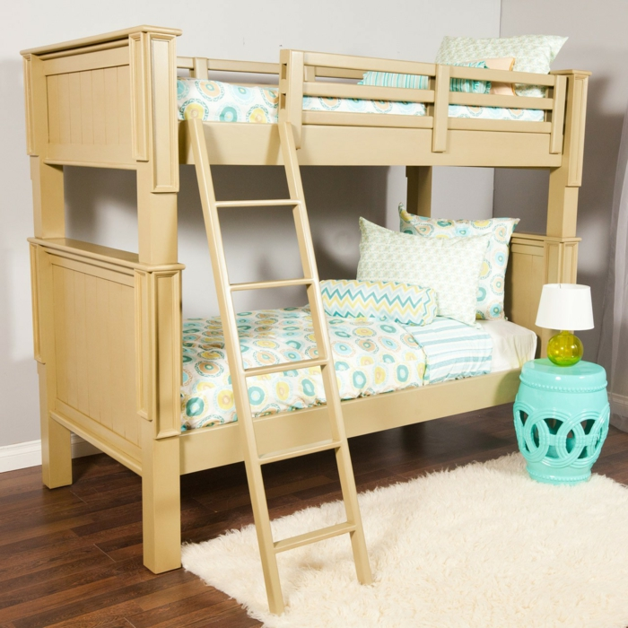 lit-mezzanine-parquet-foncé-bois-chambre-d-enfant-meubles-dans-la-chambre-d-enfant