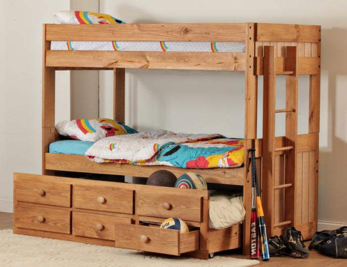 lit-superposé-ikea-lit-mezzanine-fly-chambre-d-enfant-tapis-beige-idee