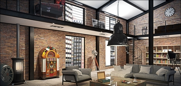 la deco loft new yorkais en 65 images. Black Bedroom Furniture Sets. Home Design Ideas