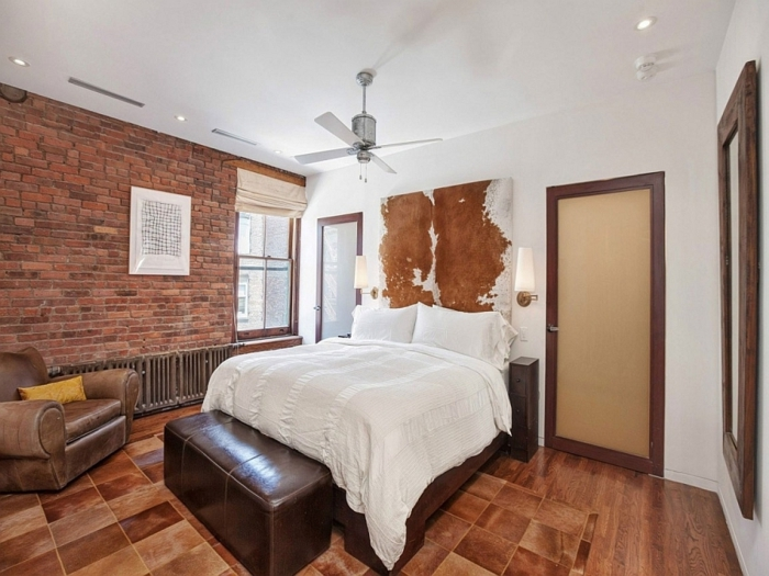 La deco loft new yorkais en 65 images - Chambre a coucher new york ...