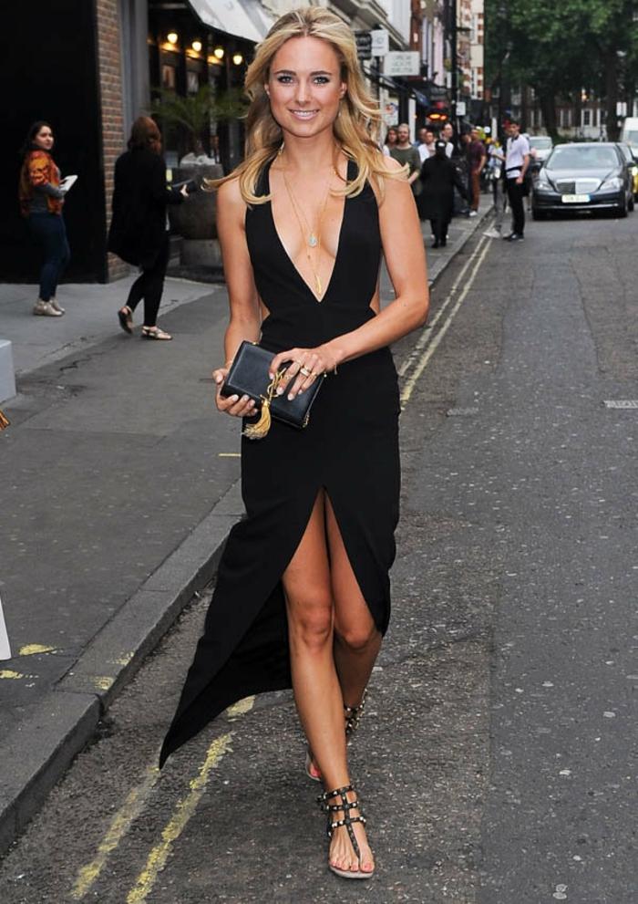 longue-robe-d-été-robe-été-longue-idée-tenue-longue-fente-petite-robe-noir