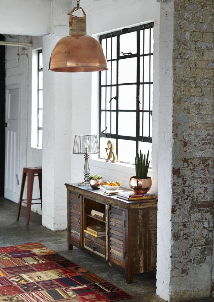 lustre-industriel-appartement-loft-tapis