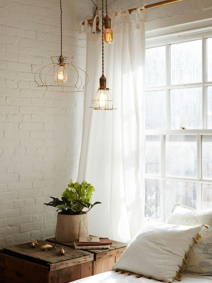 lustre-industriel-chambre-à-coucher