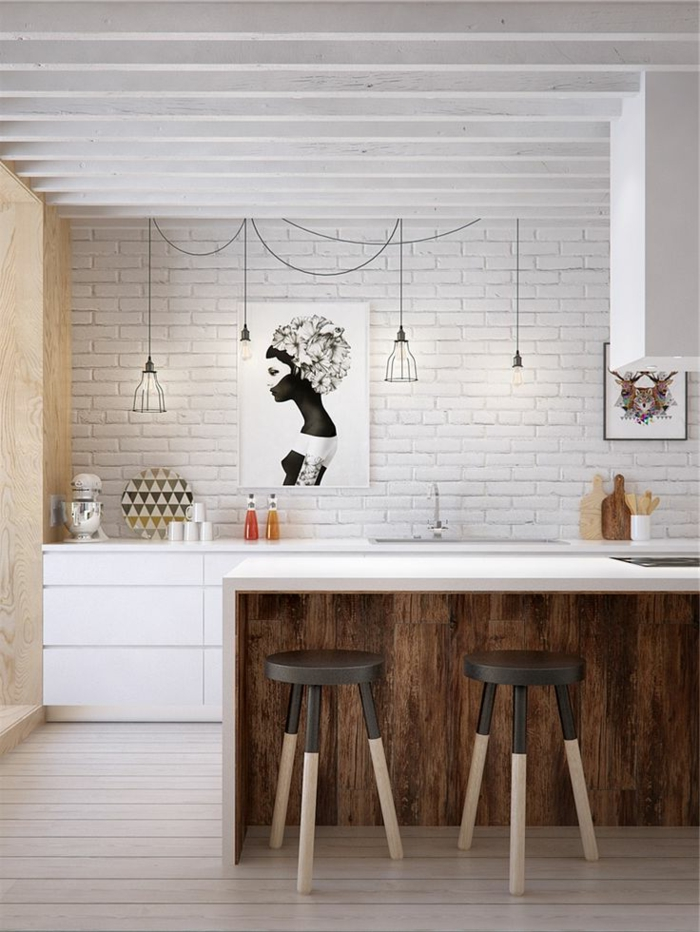lustre-industriel-cuisine-super-stylée-industrielle