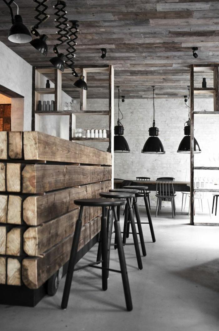 le lustre industriel une inspiration d pareill e. Black Bedroom Furniture Sets. Home Design Ideas