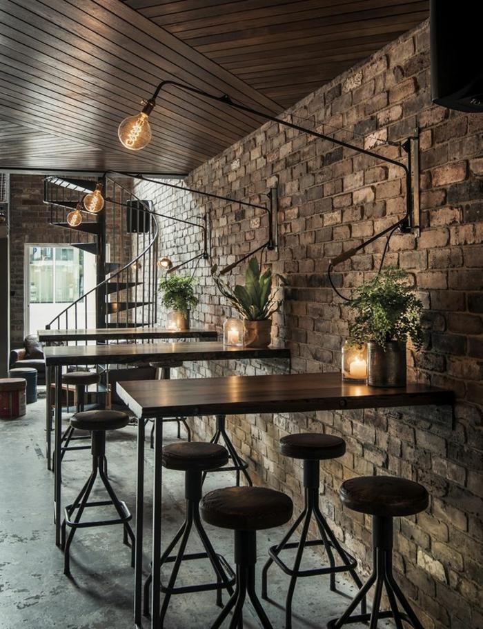 lustre-industriel-joli-café-à-déco-loft