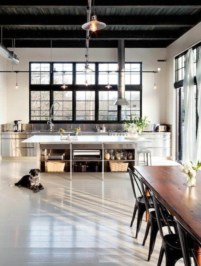 Le lustre industriel une inspiration d pareill e for Cuisine loft industriel