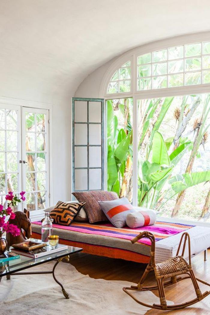 maison-feng-shui-chambre-zen-aménagement-de-salon-tapis-beige-grande-fenetre