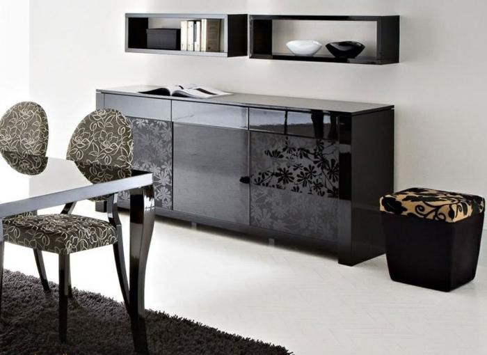 meuble-bahut-noir-laqué-pas-cher-la-salle-de-séjour