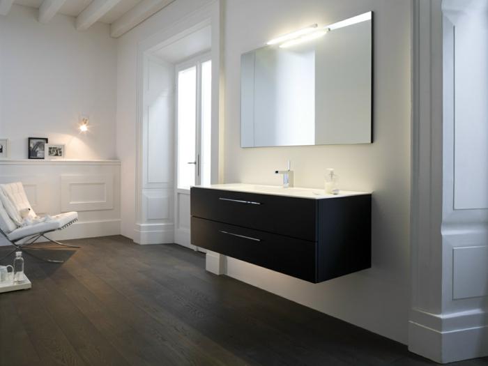 Le meuble sous lavabo 60 id es cr atives - Lavabo sous plan salle de bain ...