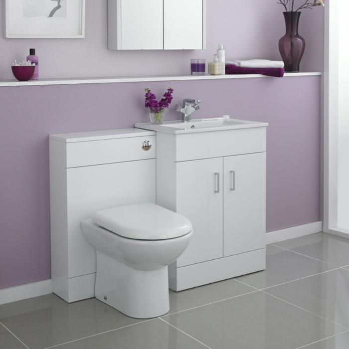 Le meuble sous lavabo 60 id es cr atives - Meuble salle de bain violet ...