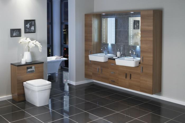 Le meuble sous lavabo 60 id es cr atives for Petit meuble salle de bain avec lavabo