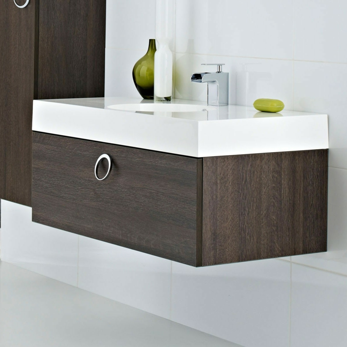 Meuble sous vasque wc conceptions de maison for Meuble vasque wc