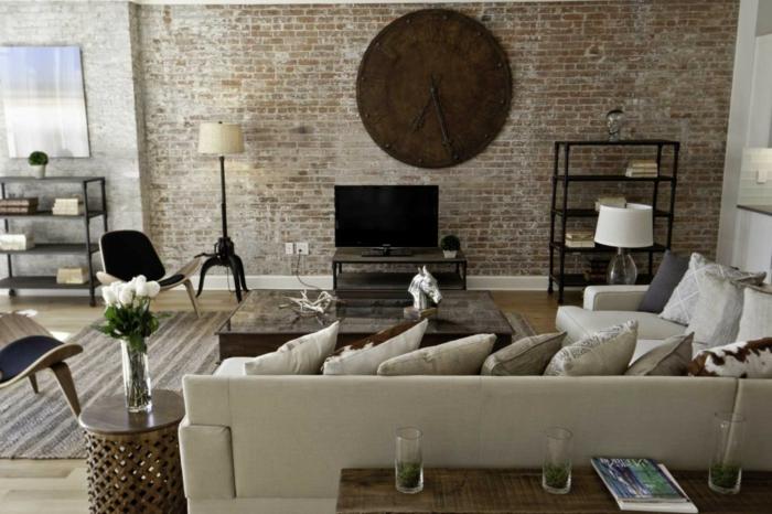 meuble-style-industriel-salon-moderne-horloge-grande-industriel