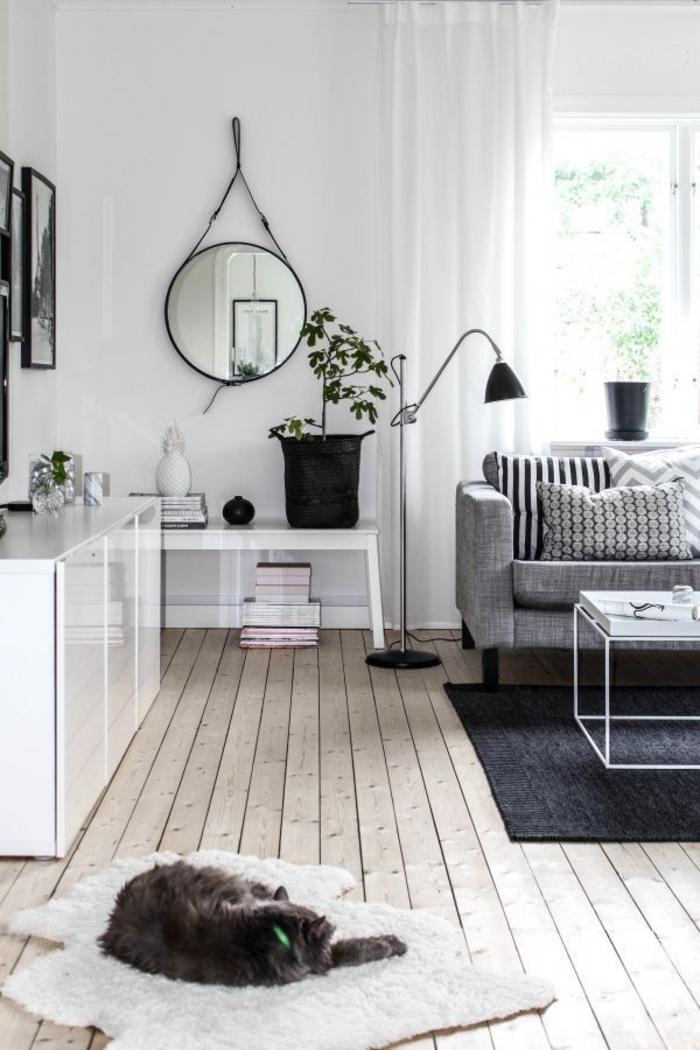 meuble-tv-scandinave-intérieur-de-style-scandinave-meubles-scandinaves-tapis-noir-salon