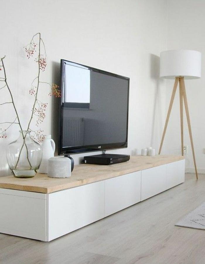 Le meuble tv style industriel en 50 images for Petit meuble pour lampe de salon