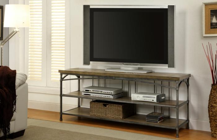 meuble-tv-style-industriel-dans-le-salon-idée-cool