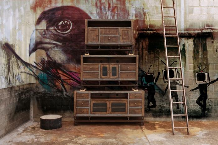 meuble-tv-style-industriel-dans-le-salon-trois-variants