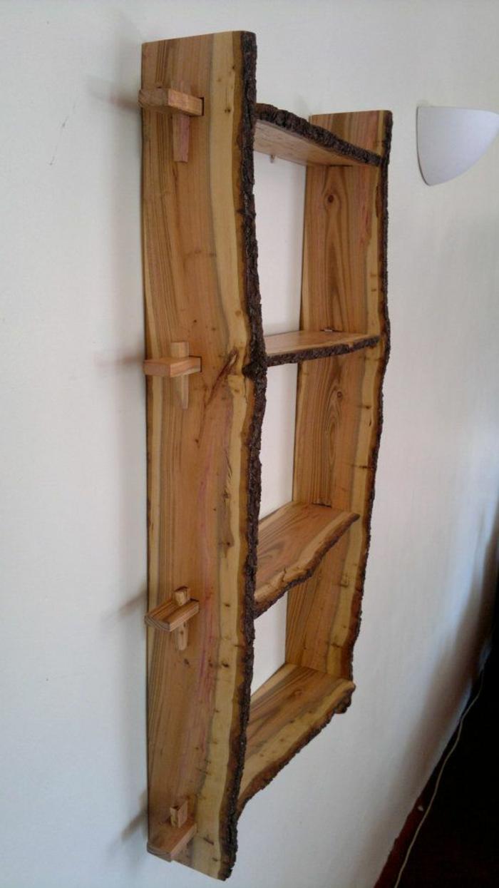 Les meubles en bois brut sont une jolie touche nature pour for Meuble bois brut