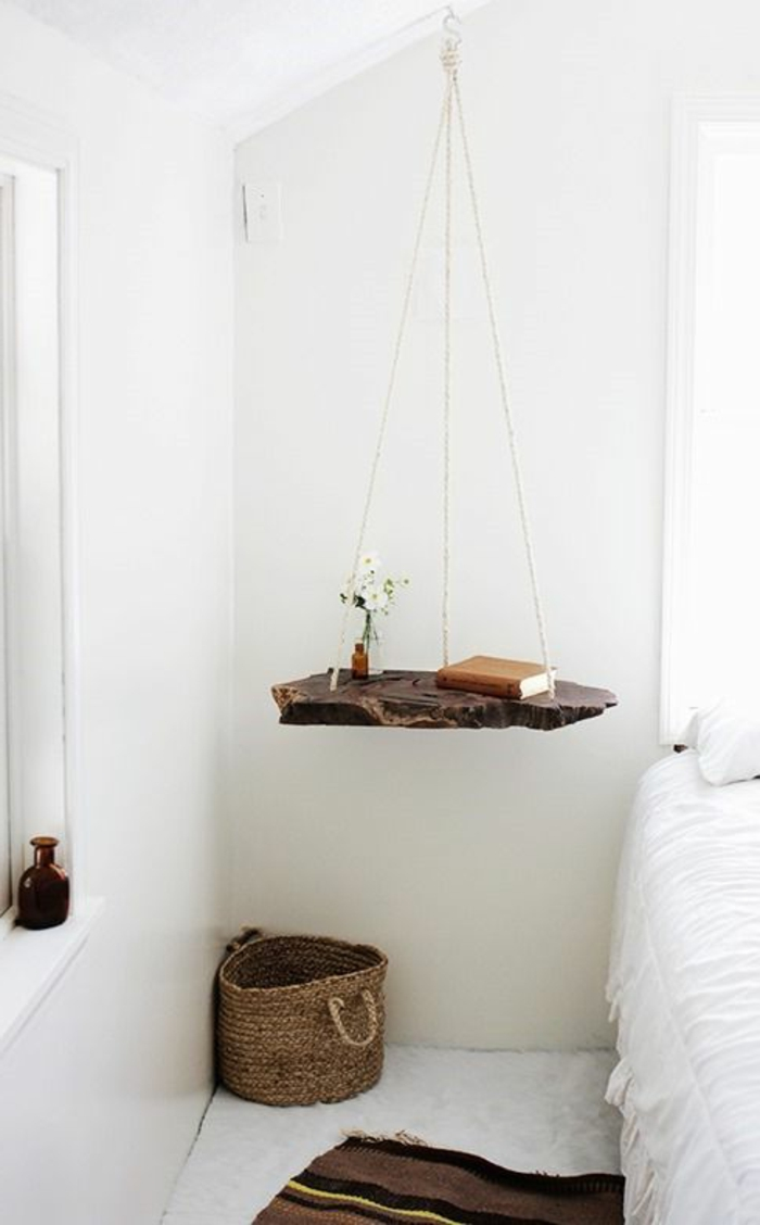 meubles-en-bois-brut-étagère-flottante
