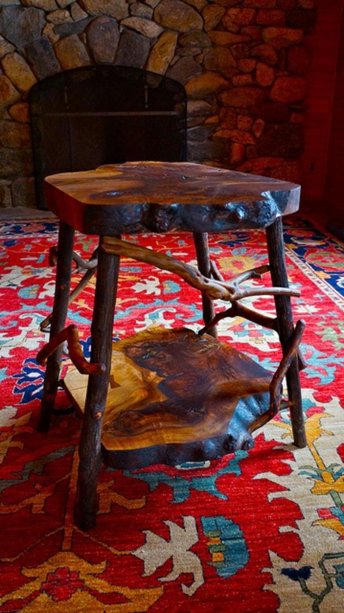 Les meubles en bois brut sont une jolie touche nature pour l 39 int rieur - Proteger une table en bois brut ...