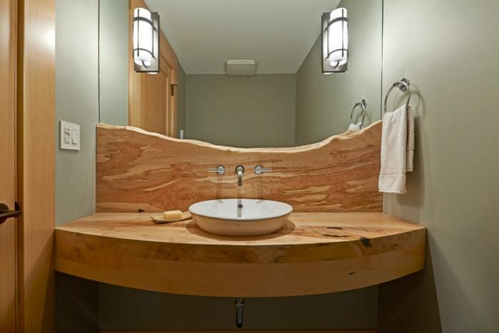 Meuble salle de bain bois brut ~ Solutions pour la décoration ...