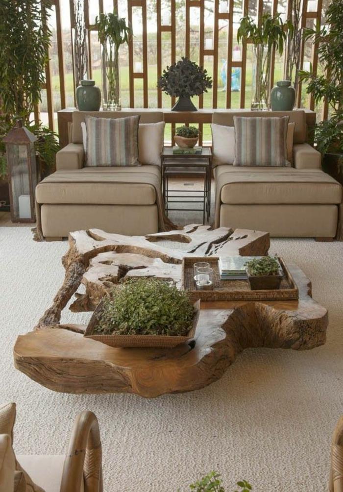 meubles-en-bois-brut-table-originale-pour-l'extérieur