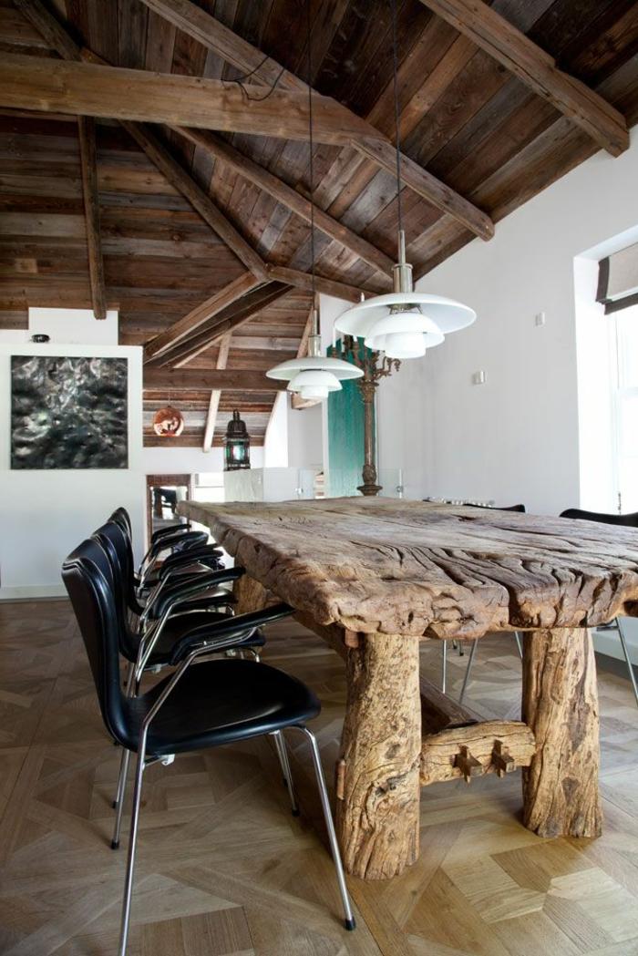 meubles-en-bois-brut-table-phénoménale-en-bois-brut-et-chaises-modernes