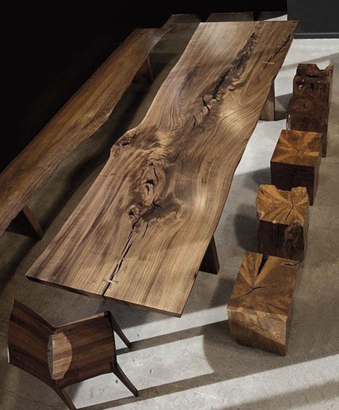 les meubles en bois brut sont une jolie touche nature pour. Black Bedroom Furniture Sets. Home Design Ideas