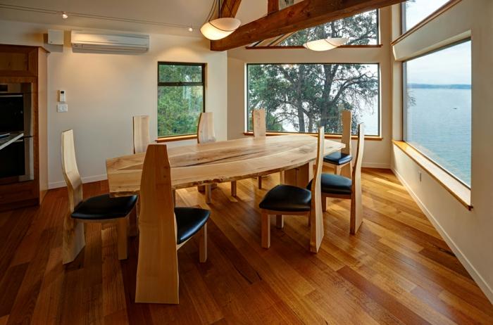 meubles-en-bois-brut-set-de-table-et-chaises