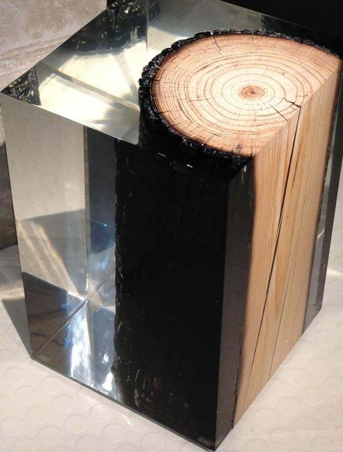 Les meubles en bois brut sont une jolie touche nature pour l 39 int rieur La petite table basse en bois brut