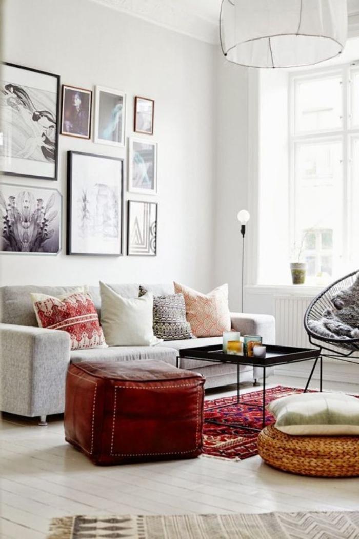 meubles-scandinaves-dans-le-salon-de-couleur-taupe-tapis-rouge-meubles-de-salon