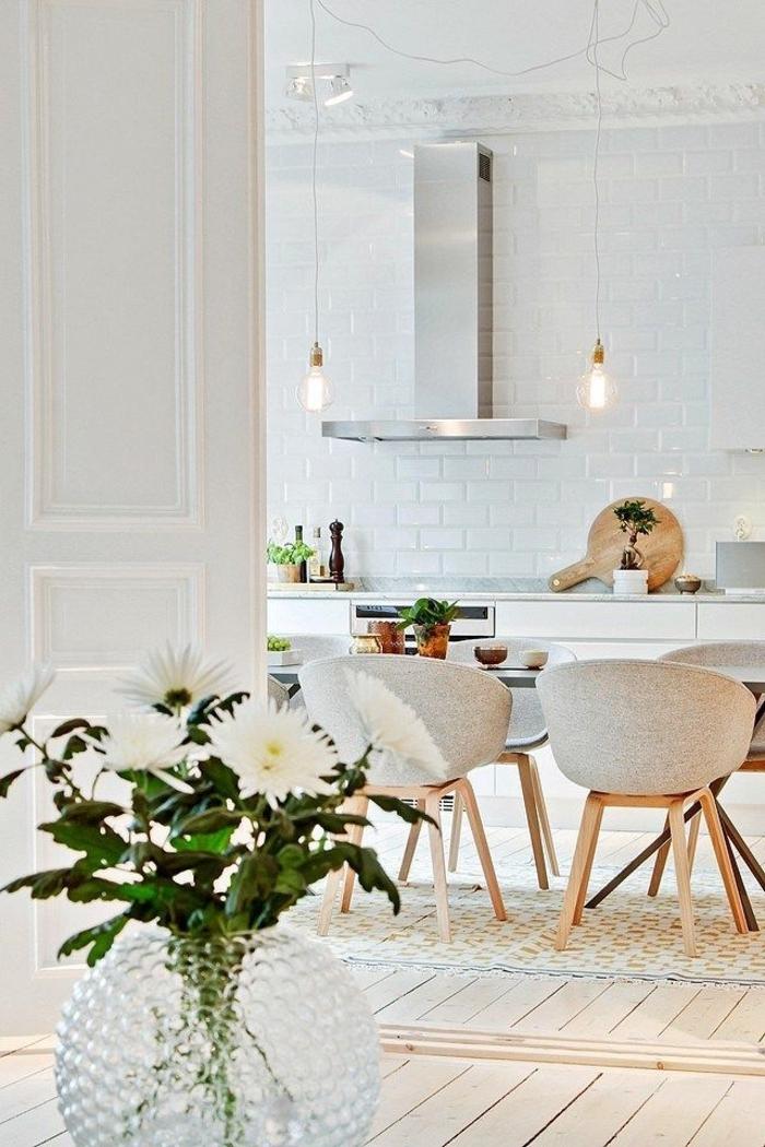 meubles-scandinaves-intérieur-blanc-meubles-scandinaves-vintages-de-couleur-taupe