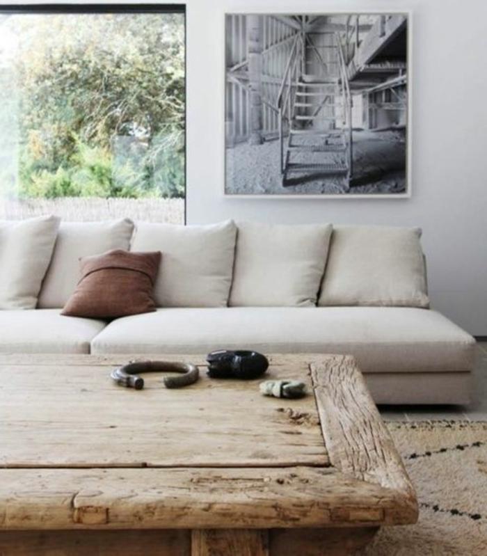 meubles-scandinaves-palaiseau-intérieur-de-couleur-taupe-tapis-beige-table-en-bois-massif
