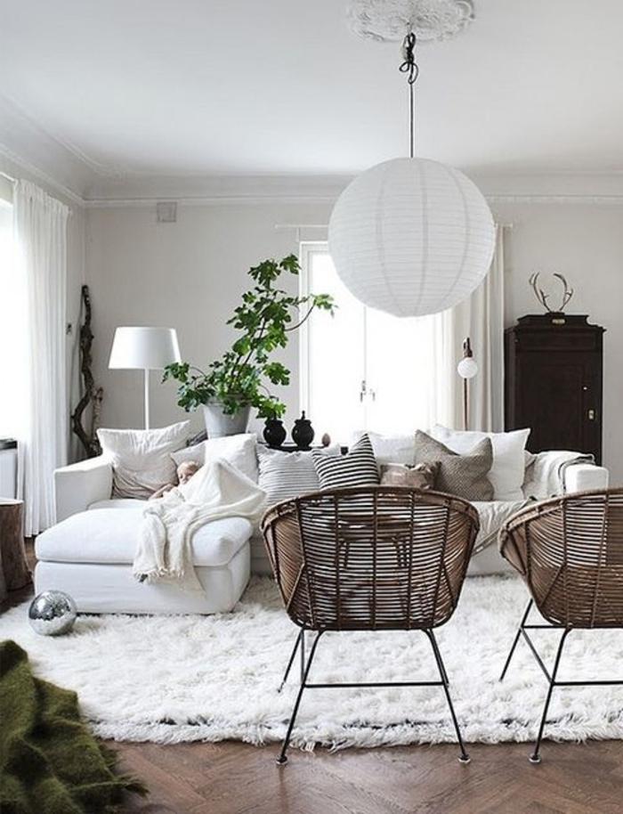 meubles-scandinaves-palaiseau-meuble-design-scandinave-tapis-blanc-parquette-en-bois-foncé