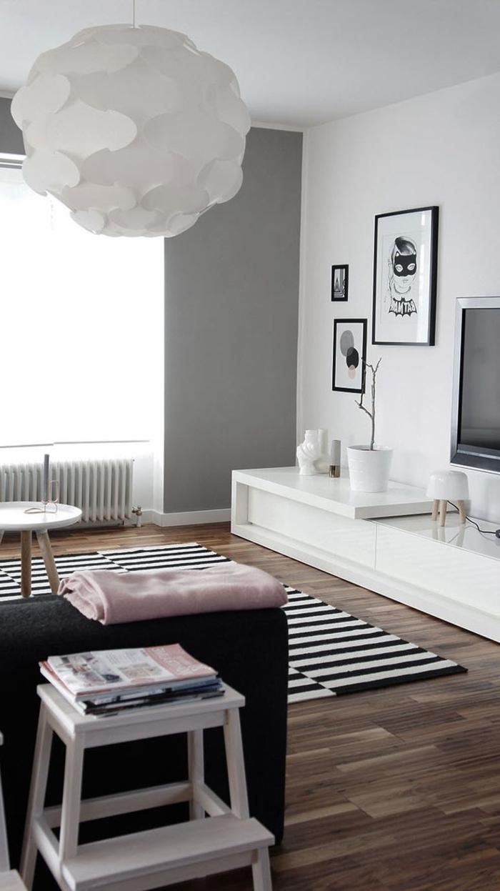meubles-scandinaves-sol-en-parquette-en-bois-foncé-meubles-de-salon-moderne