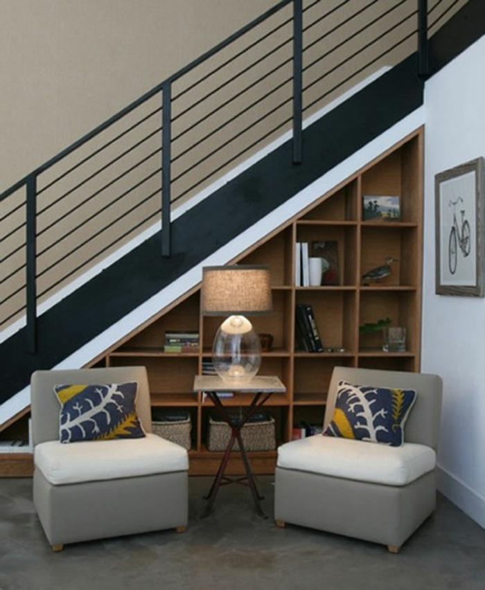 Quel meuble sous escalier choisir - Meuble chaussure sous escalier ...