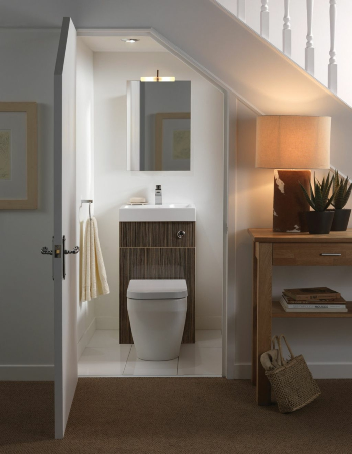 Idée Couleur Petite Salle De Bain : … -sous-escalier-rangement-sous-escalier-meuble-de-coin-salle-de-bain