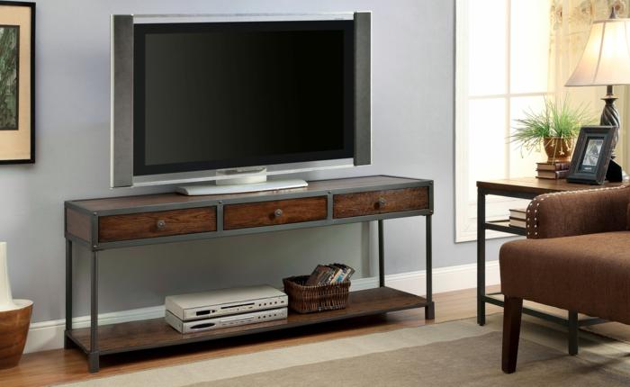 meubles-style-industriel-le-meuble-tv-aménagement-salon