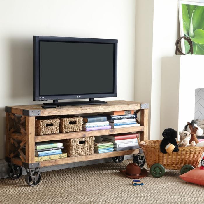 meubles-style-industriel-le-meuble-tv-l-aménager-son-salon