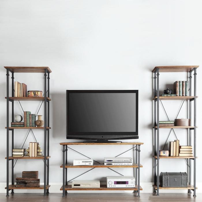 Le meuble tv style industriel en 50 images for Meuble etagere style industriel