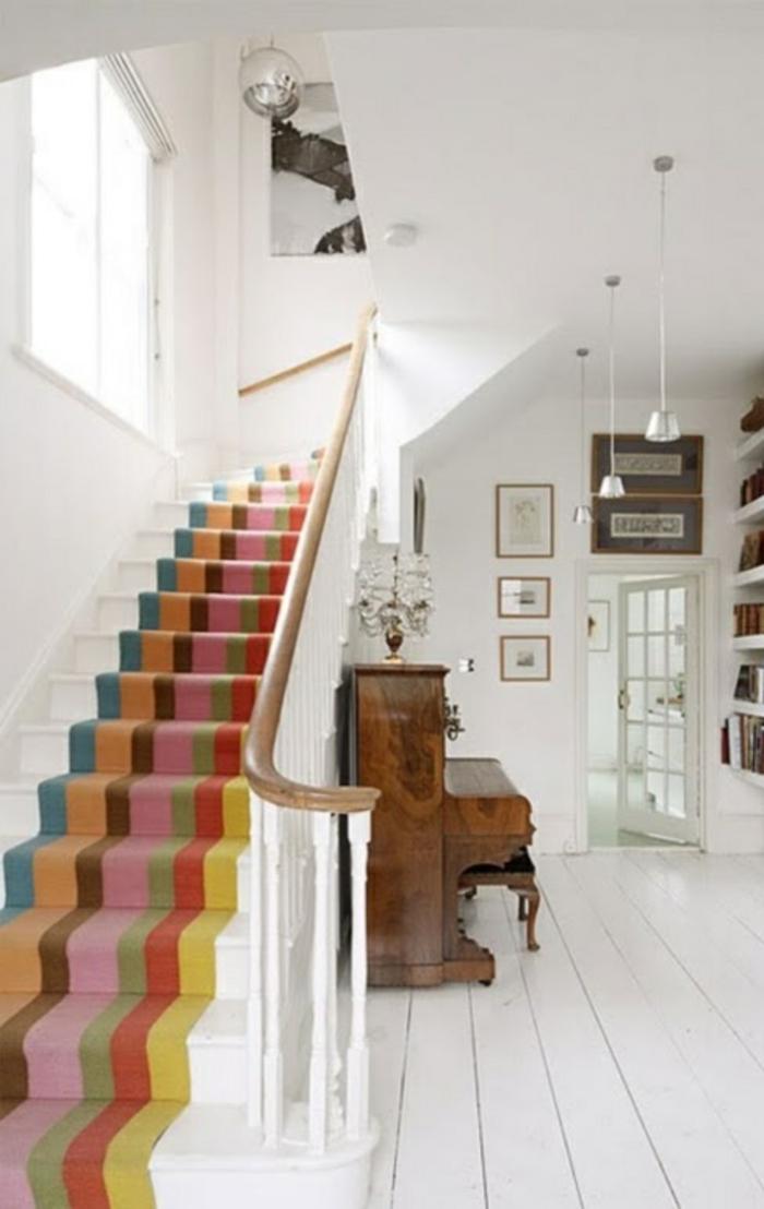 Le tapis pour escalier en 52 photos inspirantes - Tapis d escalier moderne ...