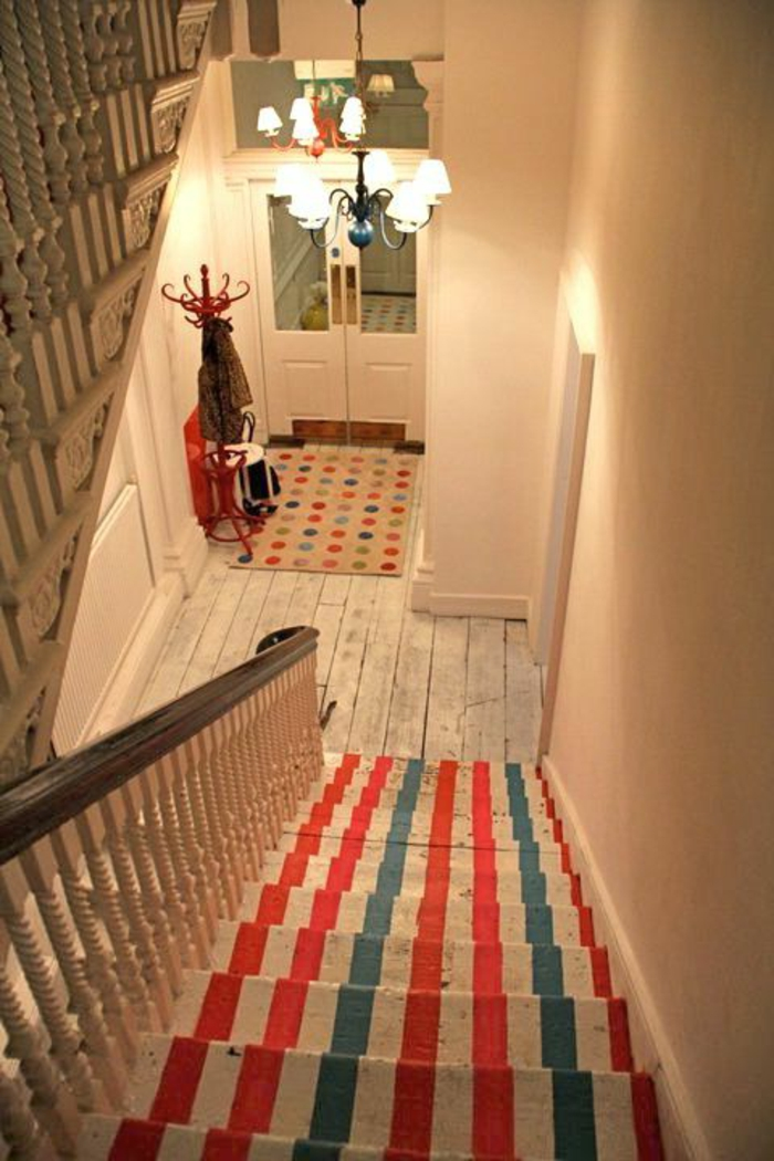 Le tapis pour escalier en 52 photos inspirantes for Escalera 9 peldanos leroy merlin