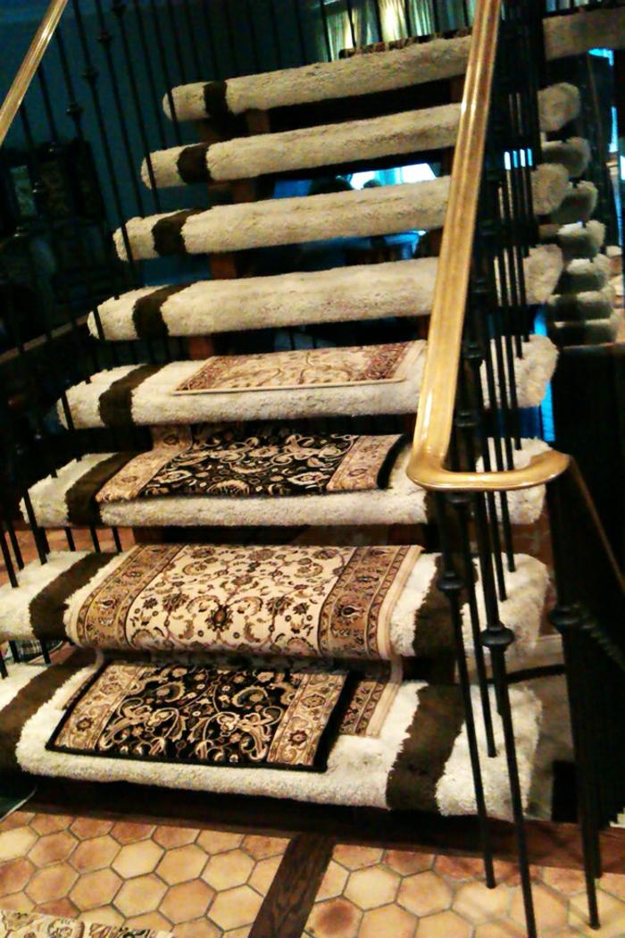 Le tapis pour escalier en 52 photos inspirantes - Leroy merlin fer forge ...