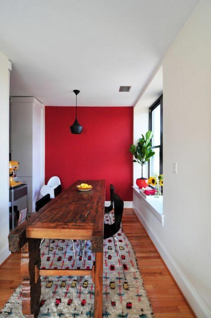 mur-de-couleur-carmin-rouge-pourpre-couleur-carmin-plante-verte-tournesol