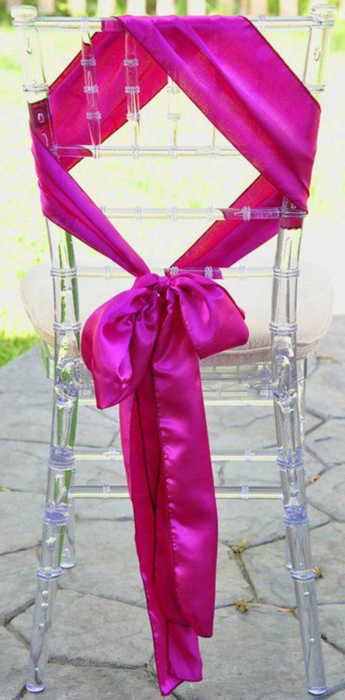 Id es d co avec un noeud de chaise - Chaise transparente rose ...