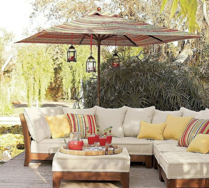 le parasol rectangulaire en photos qui va vous inspirer. Black Bedroom Furniture Sets. Home Design Ideas