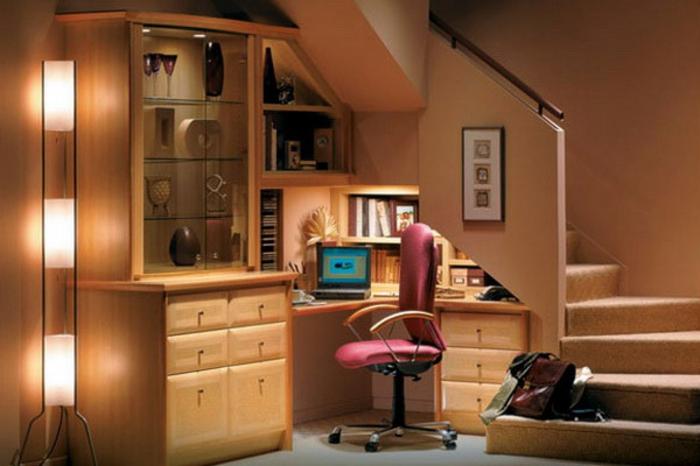 Quel meuble sous escalier choisir for Petit meuble sous bureau