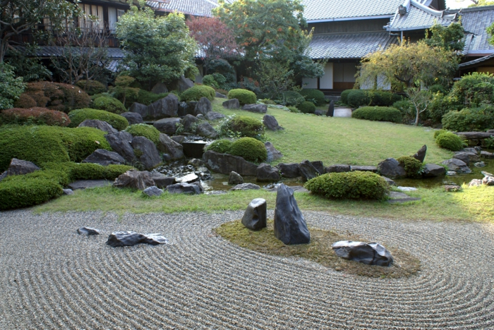 Petit jardin japonais zen pierres jardin japonnais