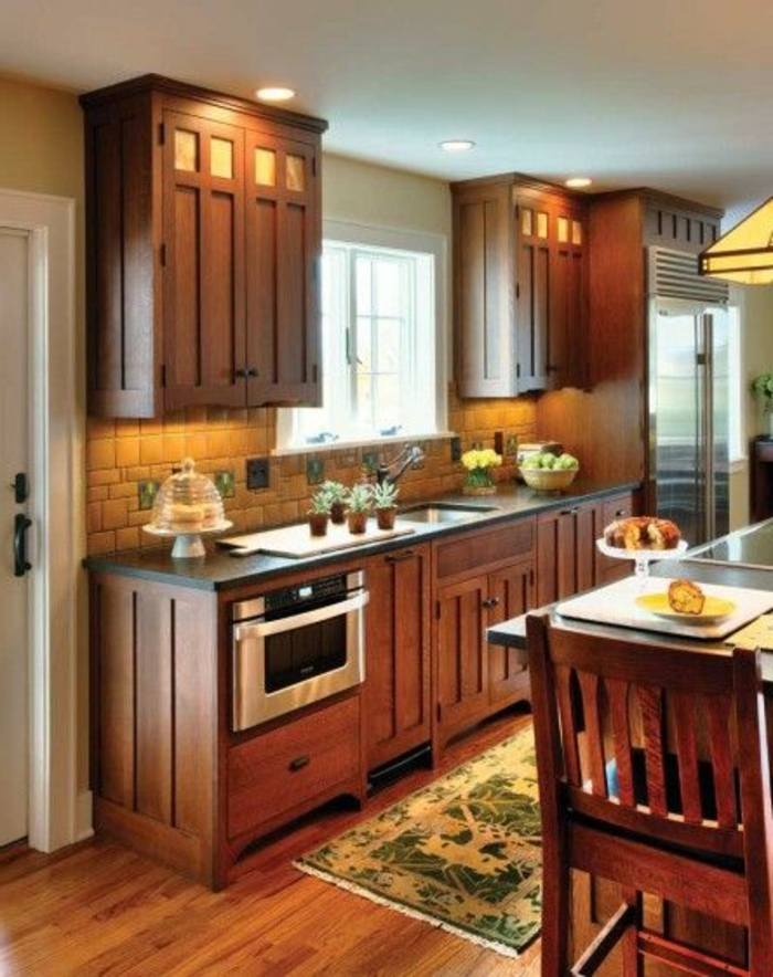 La cuisine en bois massif en beaucoup de photos - Meuble cuisine bois naturel ...